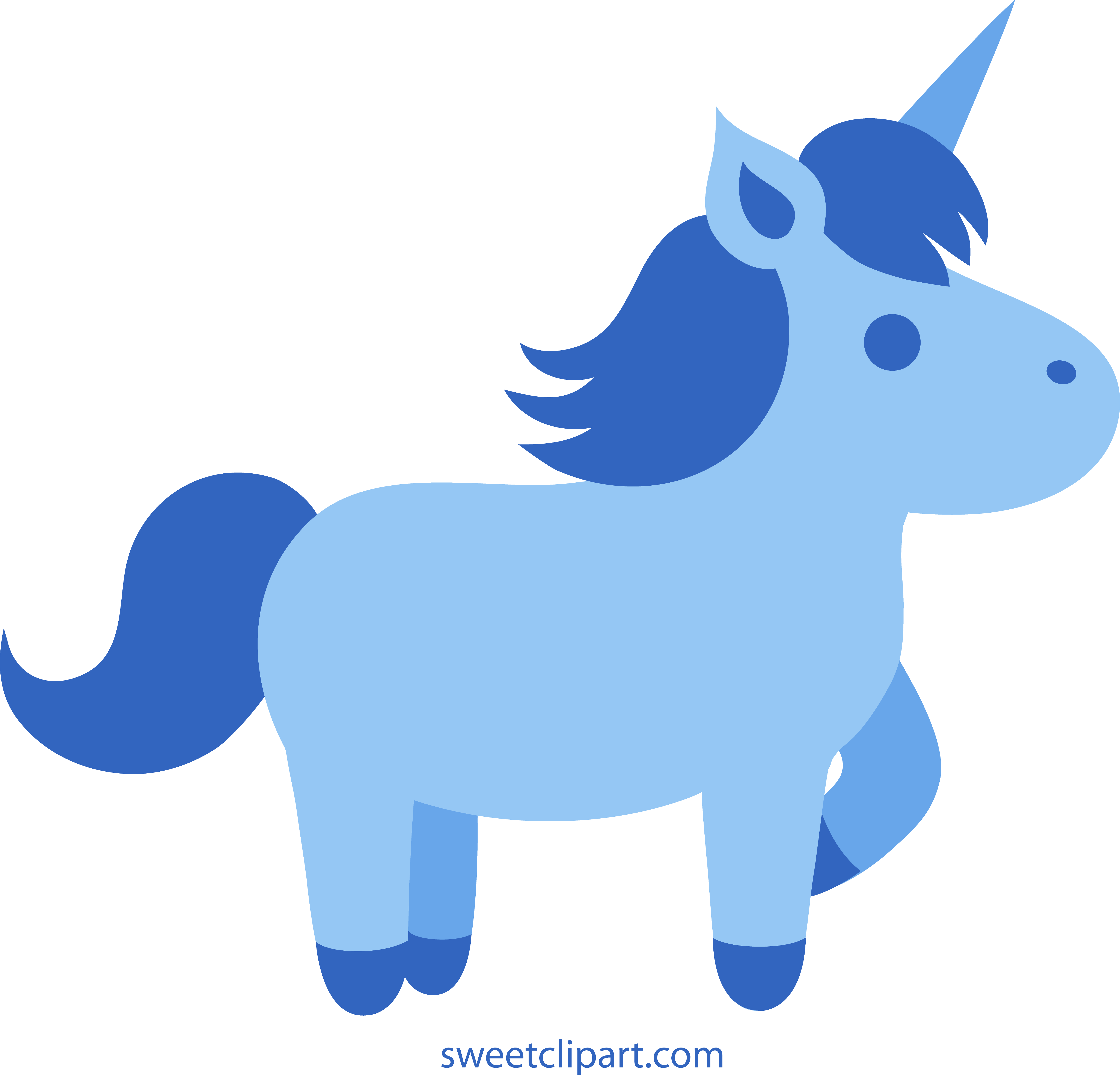 5223x5028 Cute Blue Unicorn Clipart