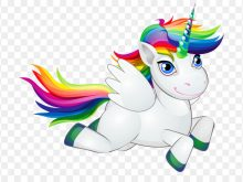 220x165 Rainbow Unicorn Clipart Clipart Prancing Unicorn And Rainbow
