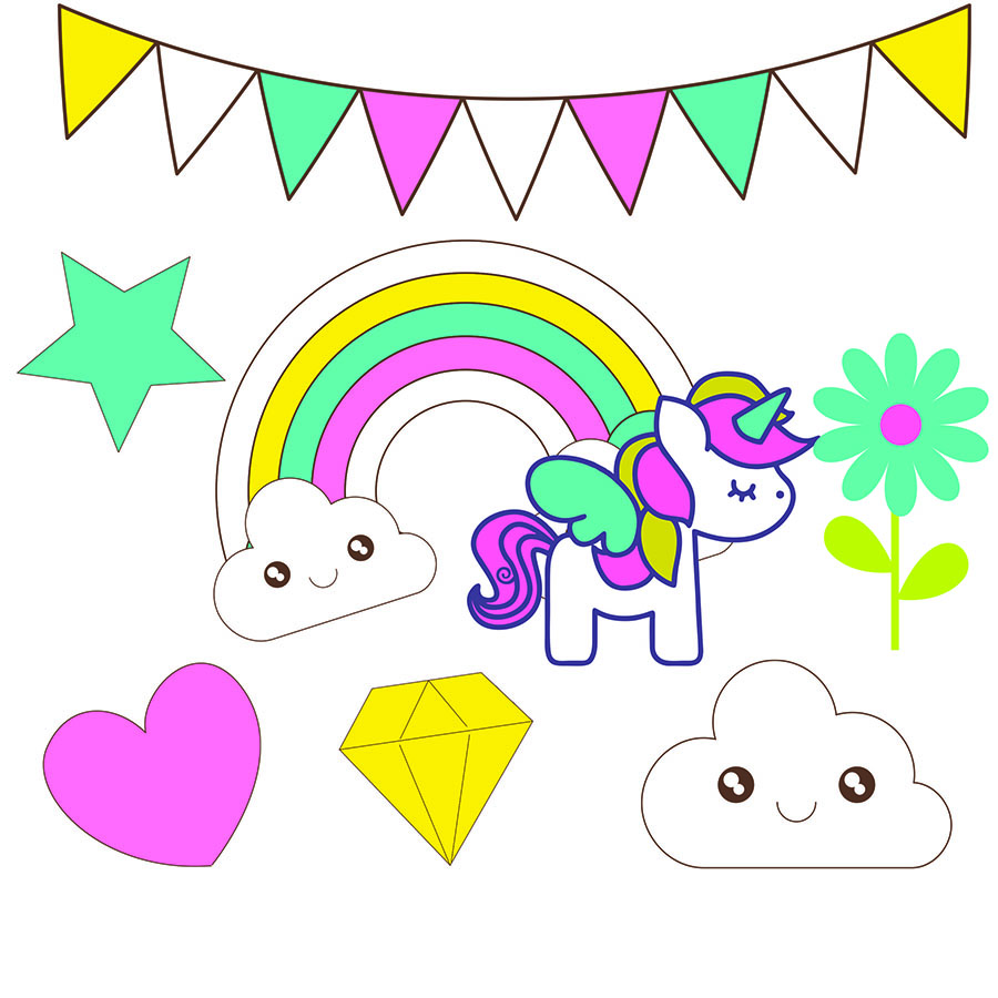 900x900 Unicorns Clip Art For Scrapbooking. Oh My Baby!