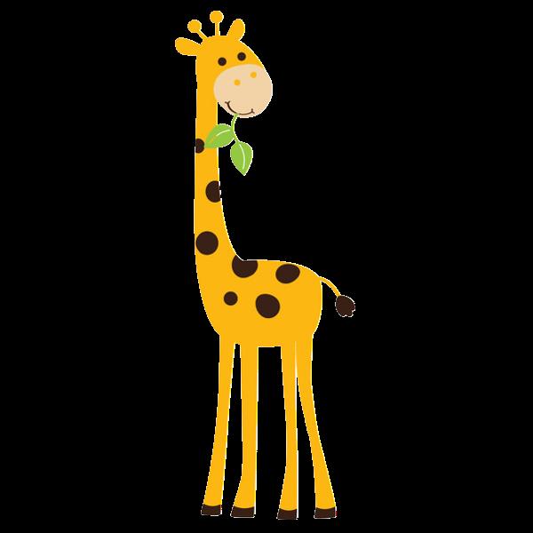 600x600 Giraffe Mom And Baby Clipart