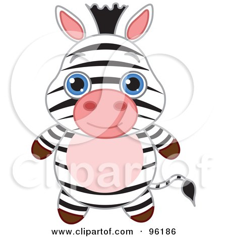 450x470 Royalty Free (Rf) Clipart Illustration Of An Adorable Baby Zebra