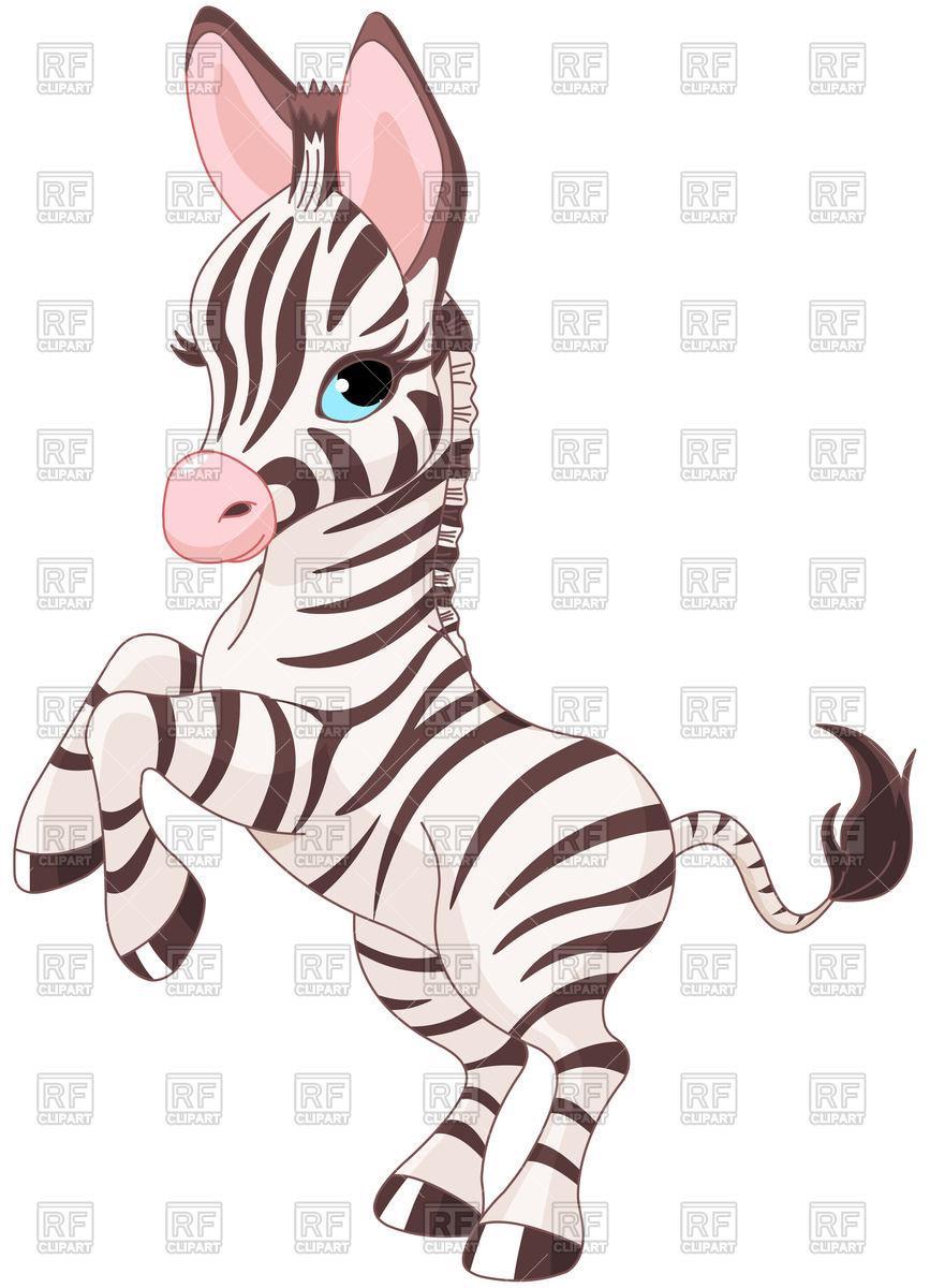 867x1200 Very Cute Baby Zebra Prancing Royalty Free Vector Clip Art Image