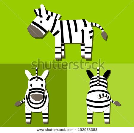 450x448 Zebra Clipart Front View
