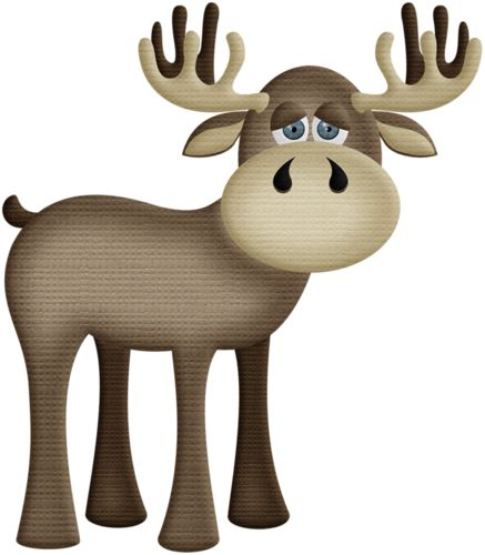 437x500 Baby Moose Clipart