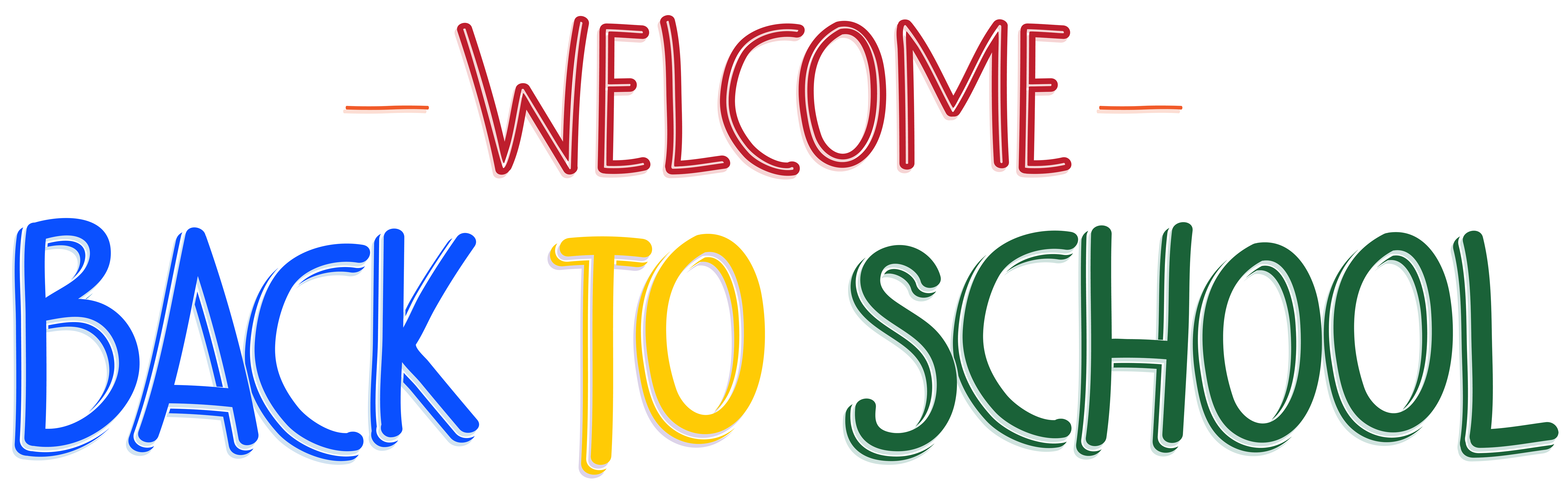 8000x2477 Welcome Back To School PNG Clip Art Imageu200b Gallery Yopriceville