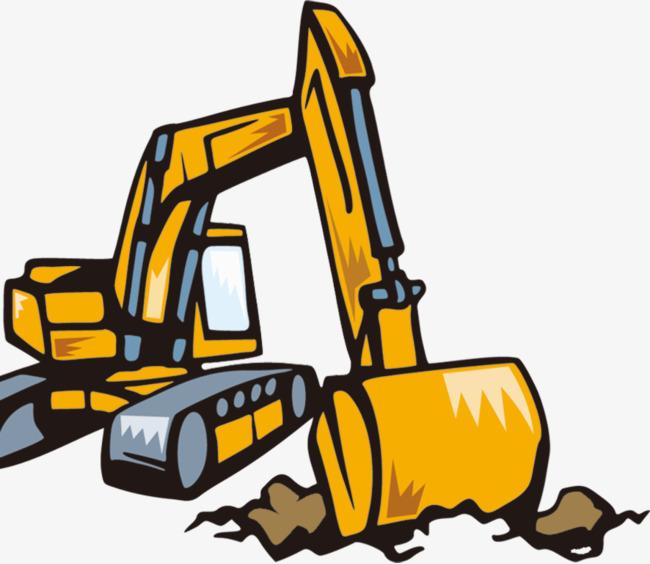 650x564 Cartoon Excavator, Cartoon, Excavator, Backhoe Png Image