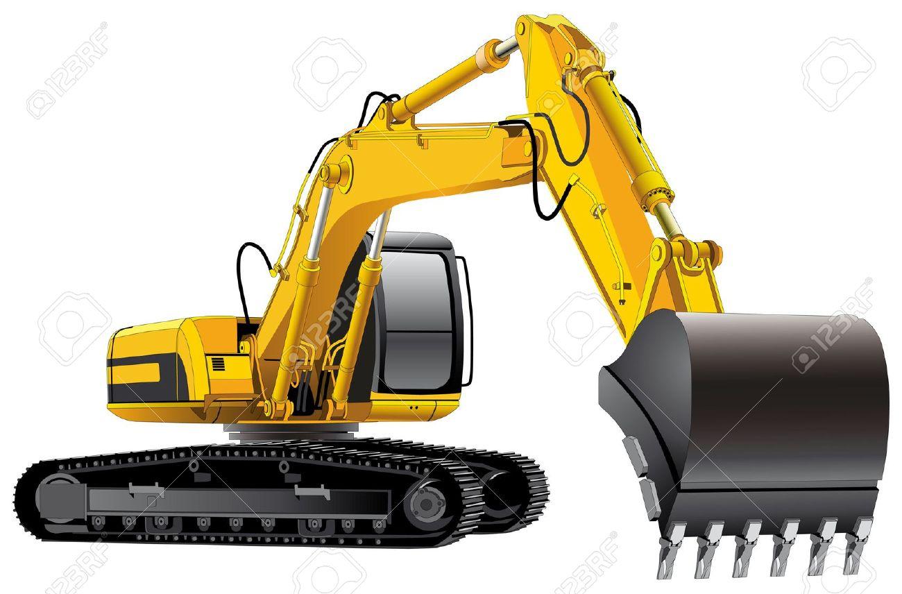 1300x856 Excavator Digging Clipart