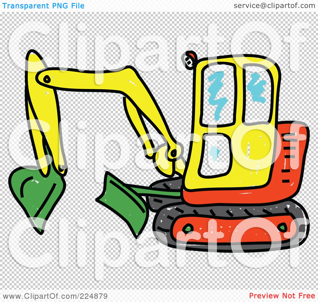 1080x1024 Excovator Clipart Red
