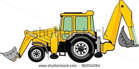 450x226 Advertising Business Card Backhoe Loader, Clip Art