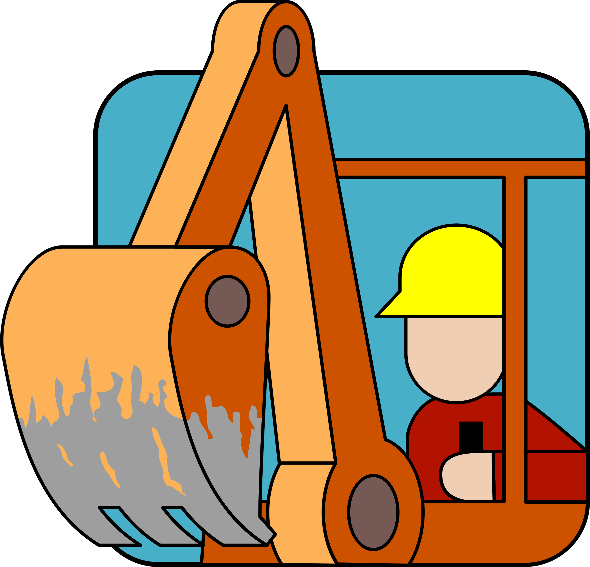 2356x2264 Backhoe Operator Icons Png