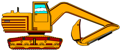 493x208 Backhoe Construction Free Animated Clipart