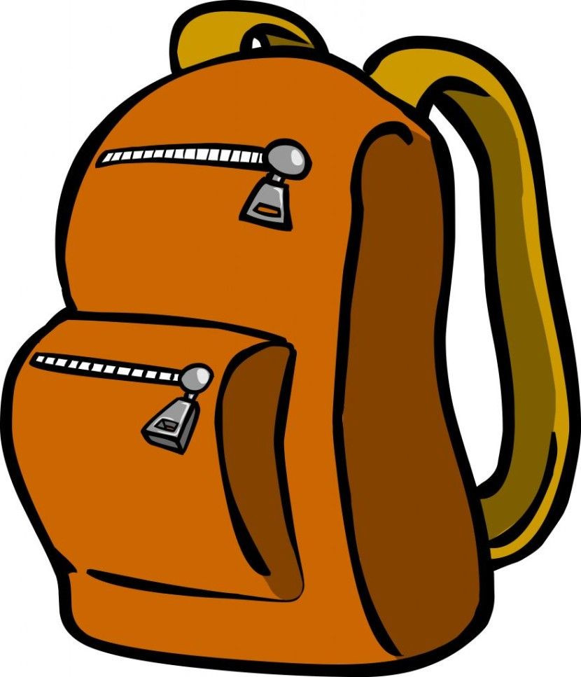 830x967 Blue And Grey Backpack Png Vector Clipart Gallery Yopriceville