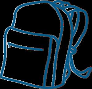 299x288 Blue Backpack Clip Art