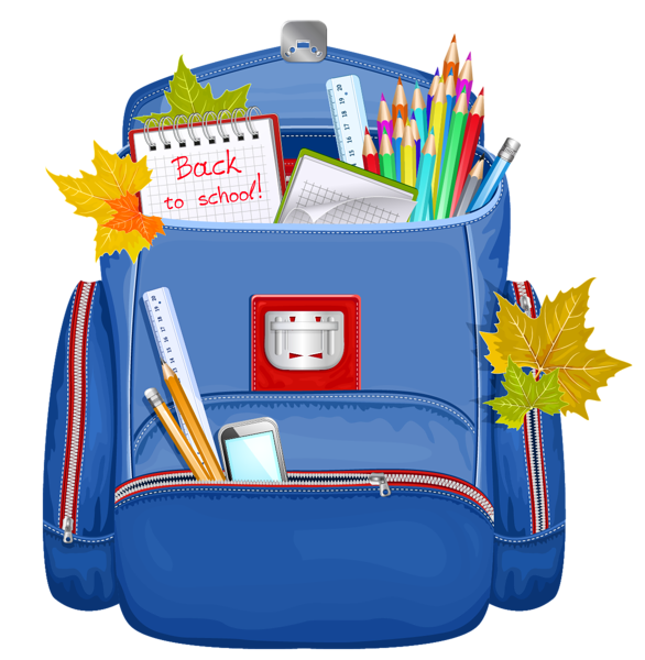 586x600 Blue School Backpack Png Clipart Graphics School