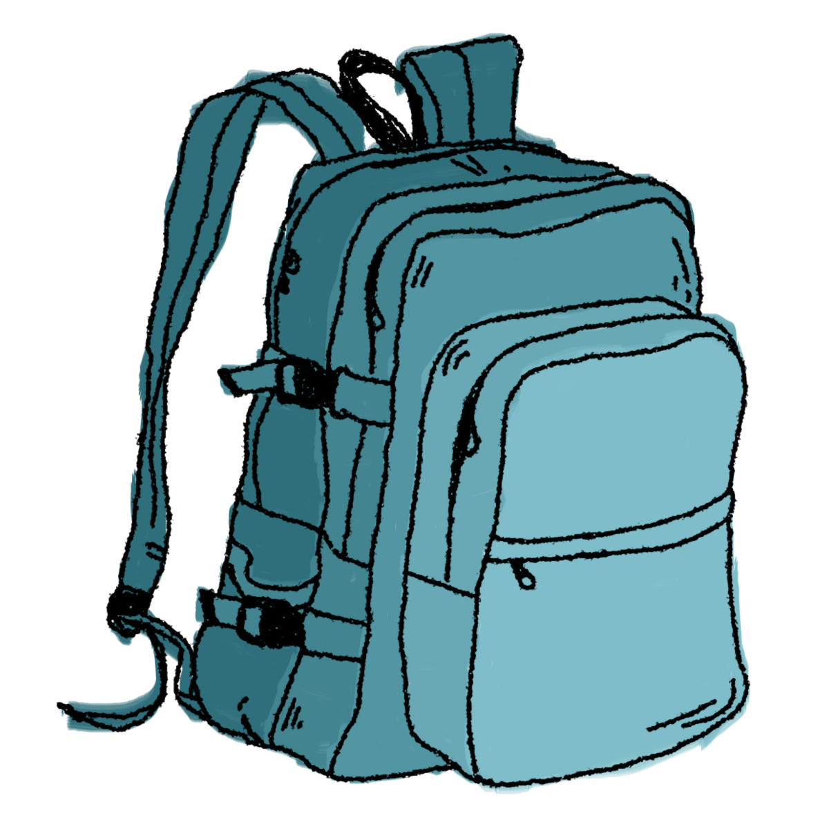 1200x1200 Hiking Backpack Clip Art Free Book Bag Hiking