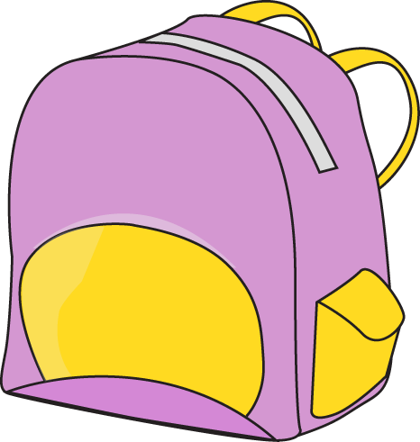 466x491 Purple Backpack Clip Art
