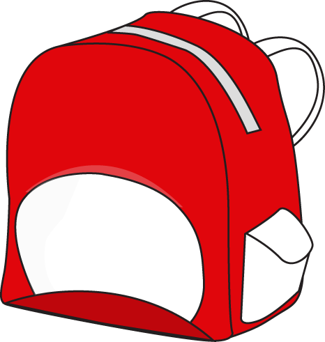466x491 Red Clipart Red And White Backpack Clip Art Red And White Backpack