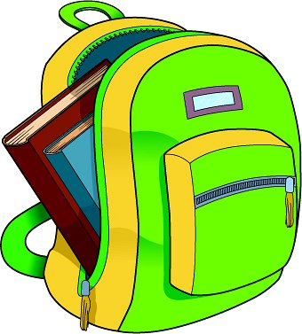 340x377 School Backpack Clipart