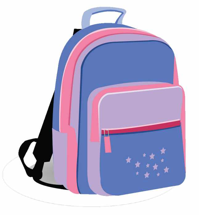 646x699 Girl With Backpack Clip Art Girl With Backpack Clip Art Backpack