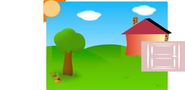 600x293 Backyard Clip Art