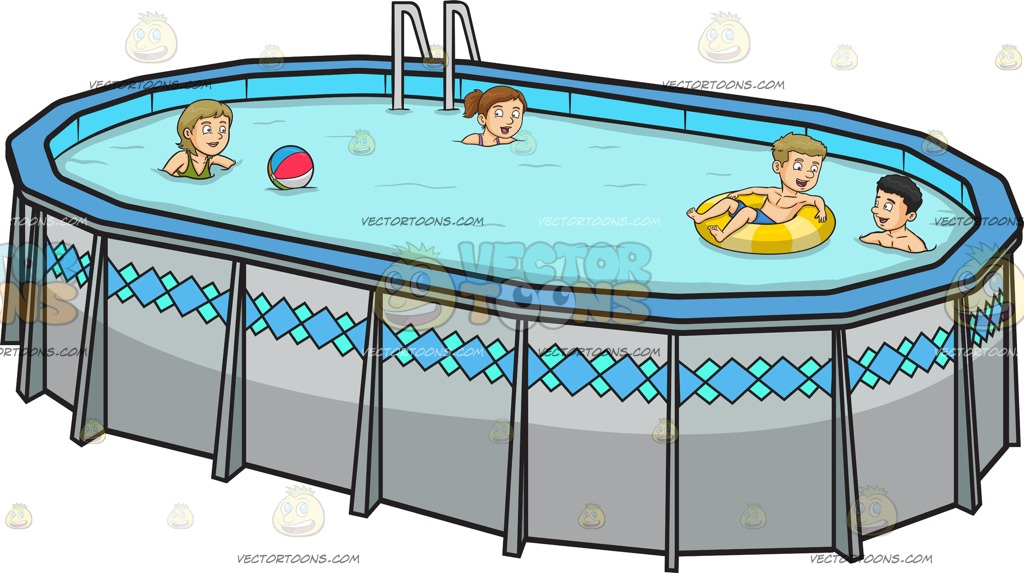 1024x573 Four People Playing And Swimming In The Backyard On A Solid Tea