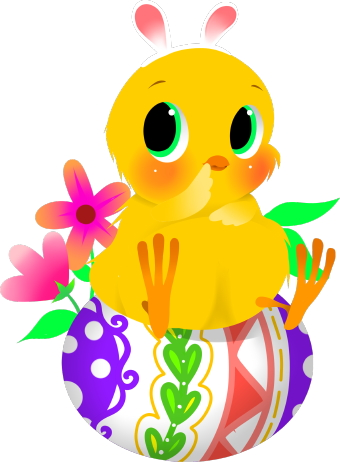 340x462 Easter Chicks Clipart