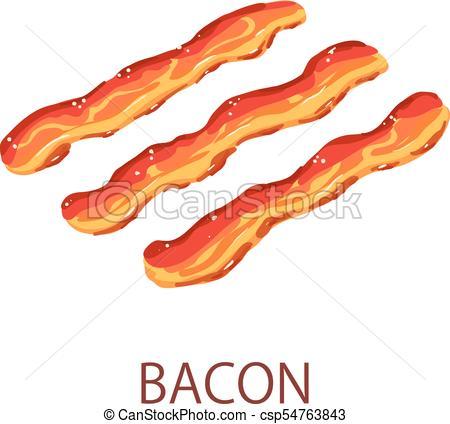 450x424 Bacon Icon, Isometric Style. Bacon Icon. Isometric Eps Vector