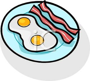300x269 Clipart Image Bacon And Eggs On A Plate