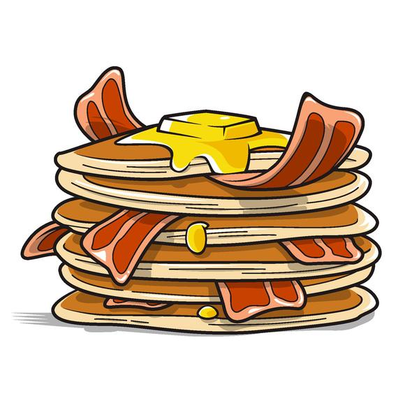 600x600 Collection Of Pancakes And Bacon Clipart High Quality, Free