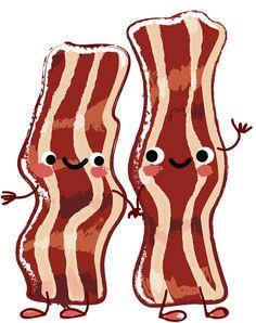 236x298 Digital Download Clipart Breakfast Treats, Bacon Food, Bacon