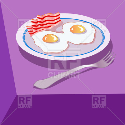 400x400 Fried Eggs With Bacon On Plate