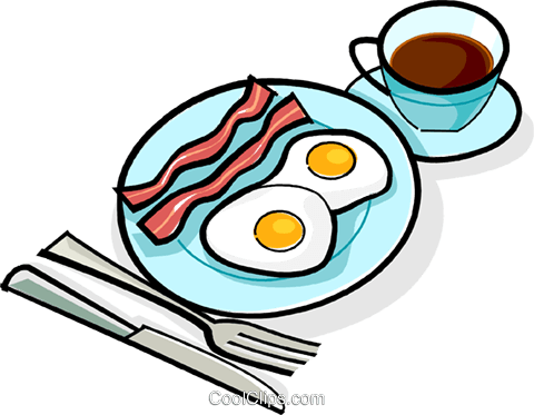 480x373 Bacon And Eggs Breakfast Royalty Free Vector Clip Art Illustration