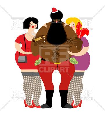 362x400 Bad Black Santa With Prostitutes