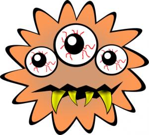 300x272 Bacteria Cartoon Bad Clip Art Download