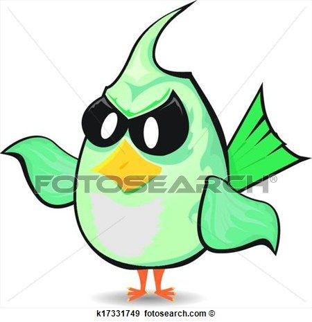 450x465 Vector Bad Bird. Funny Bird Character View Large Clip Art Graphic