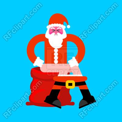 400x400 Bad Santa On Toilet
