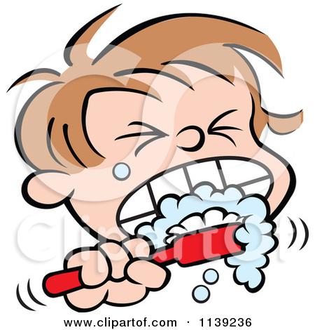 450x470 Man Brushing Teeth Clipart