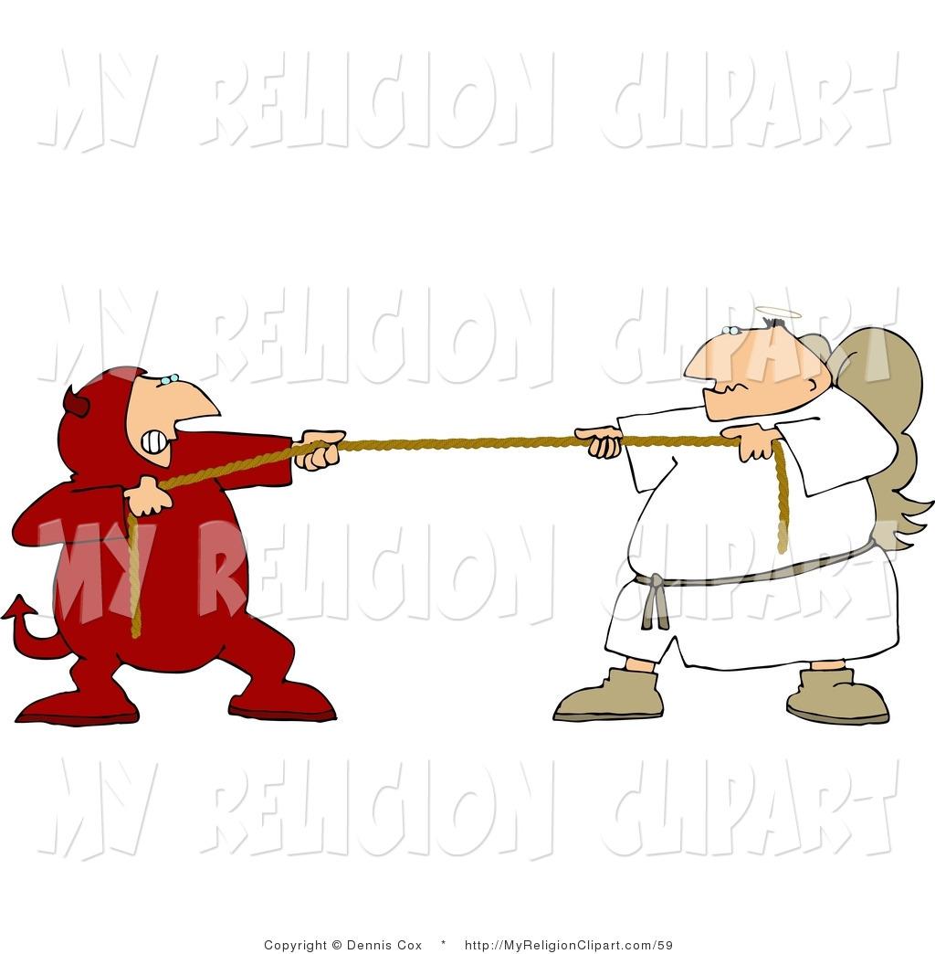 1024x1044 Religion Clip Art Of A Tug Of War Consciousness Battle Between