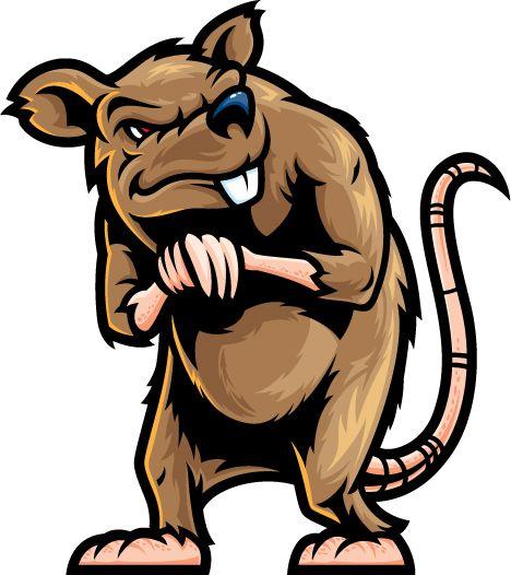 468x526 Evil Rat Clipart