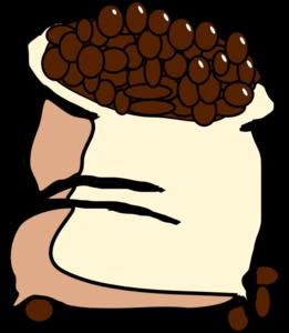261x300 Bag Of Coffee Beans Clip Art