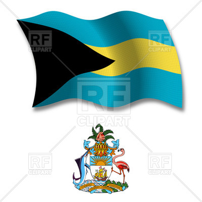 400x400 Bahamas Flag And Coat Of Arms Royalty Free Vector Clip Art Image