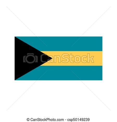 450x470 Bahamas Flag Illustration. Bahamas Flag On The White Vectors