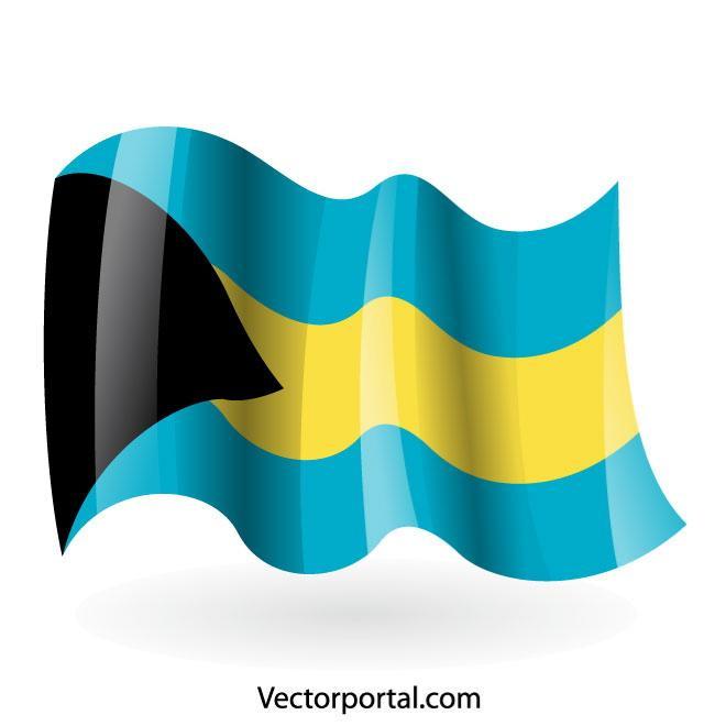 660x660 Bahamas Flag Vector Image