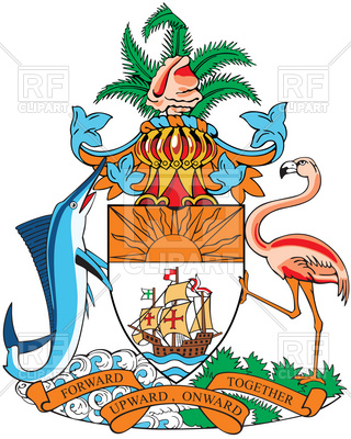 320x400 Coat Of Arms Of Bahamas Royalty Free Vector Clip Art Image