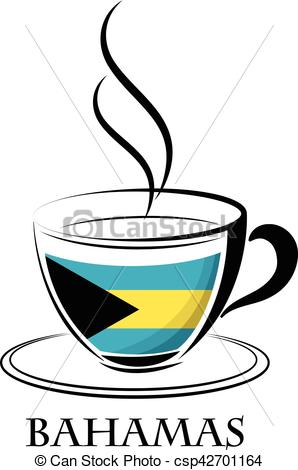 298x470 Coffee Logo Made From The Flag Of Bahamas Clip Art Vector