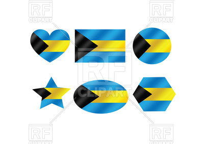 400x283 Design Elements With Flag Of Bahamas Royalty Free Vector Clip Art