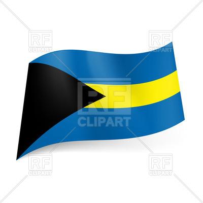 400x400 National Flag Of Bahamas Royalty Free Vector Clip Art Image