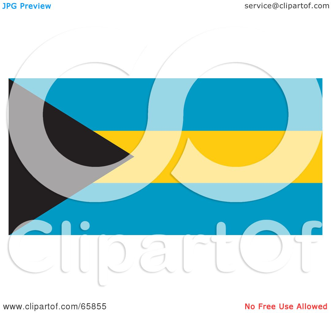 1080x1024 Royalty Free (Rf) Clipart Illustration Of A Bahamas Flag