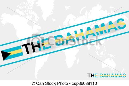 450x301 Bahamas, Carte, Drapeau, Illustration, Texte. Carte, Clipart