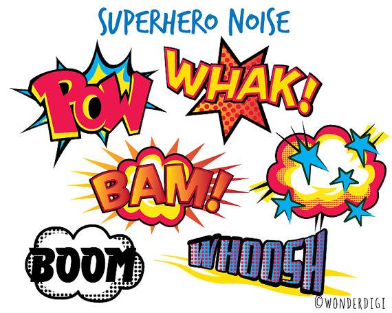 570x456 Superhero Clipart Comic Noise Clip Art